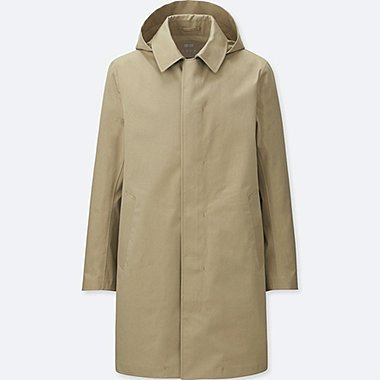 MEN BLOCKTECH CONVERTIBLE COLLAR COAT