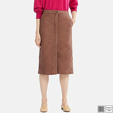 WOMEN UNIQLO U COTTON MIDI SKIRT