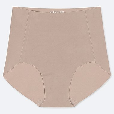 WOMEN AIRism ULTRA SEAMLESS HIGH-RISE BRIEF SHORTS, KHAKI, medium