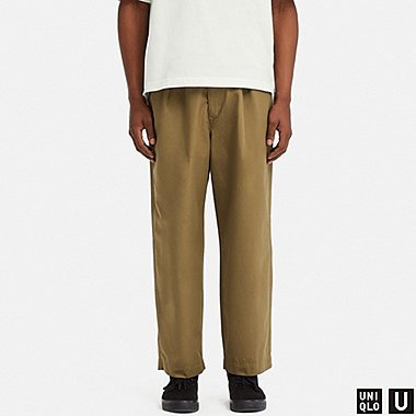 MEN UNIQLO U RELAXED WIDE FIT TAPERED TROUSERS
