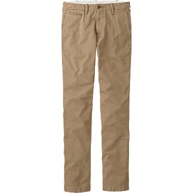 MEN VINTAGE REGULAR FIT CHINO FLAT FRONT PANTS, BROWN, medium