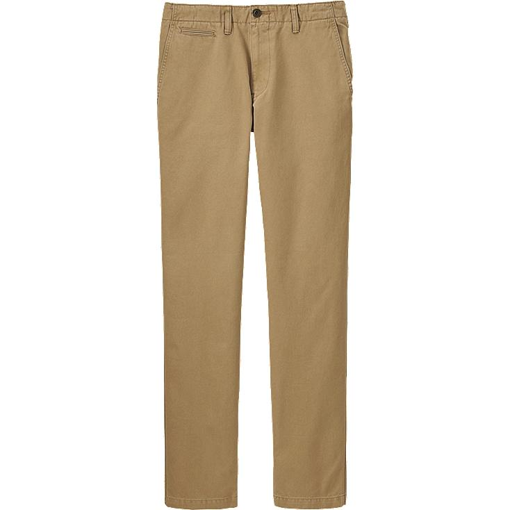 MEN VINTAGE REGULAR FIT CHINO FLAT FRONT PANTS, BROWN, large