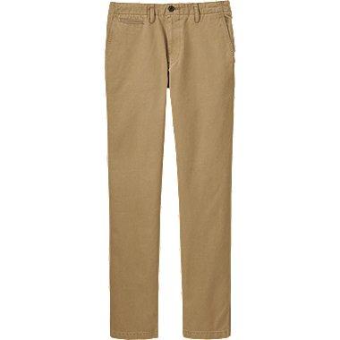 MEN VINTAGE REGULAR FIT CHINO FLAT FRONT PANTS, BROWN, medium