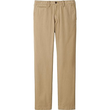 Pantalon Chino Regular Fit Vintage Sans Pli HOMME
