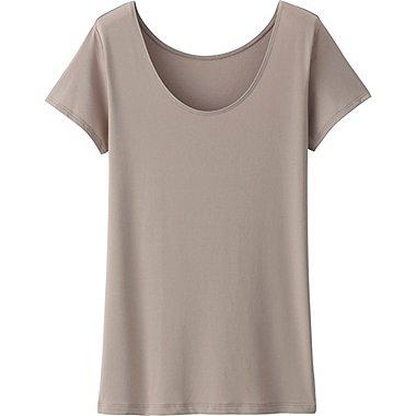 DAMEN AIRism T-Shirt U-Ausschnitt