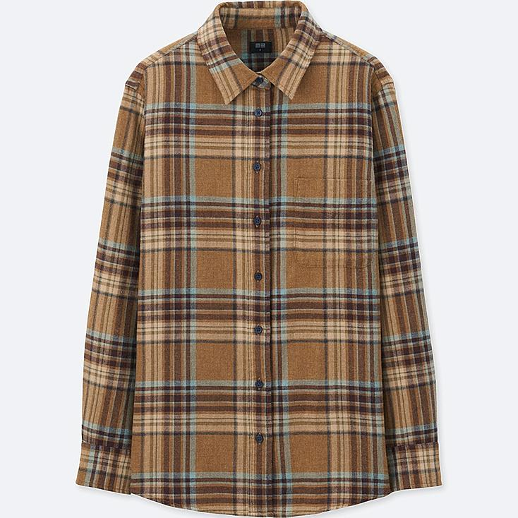 women flannel check long sleeve shirt uniqlo us