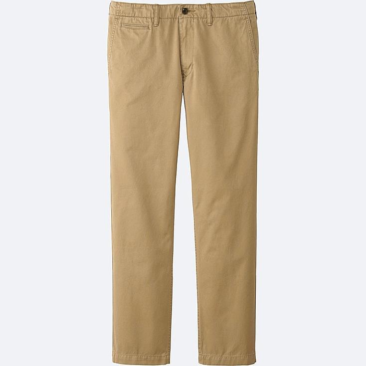 MEN VINTAGE REGULAR-FIT CHINO FLAT-FRONT PANTS, BROWN, large