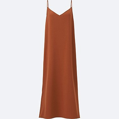 WOMEN Crepe Camisole Long Dress