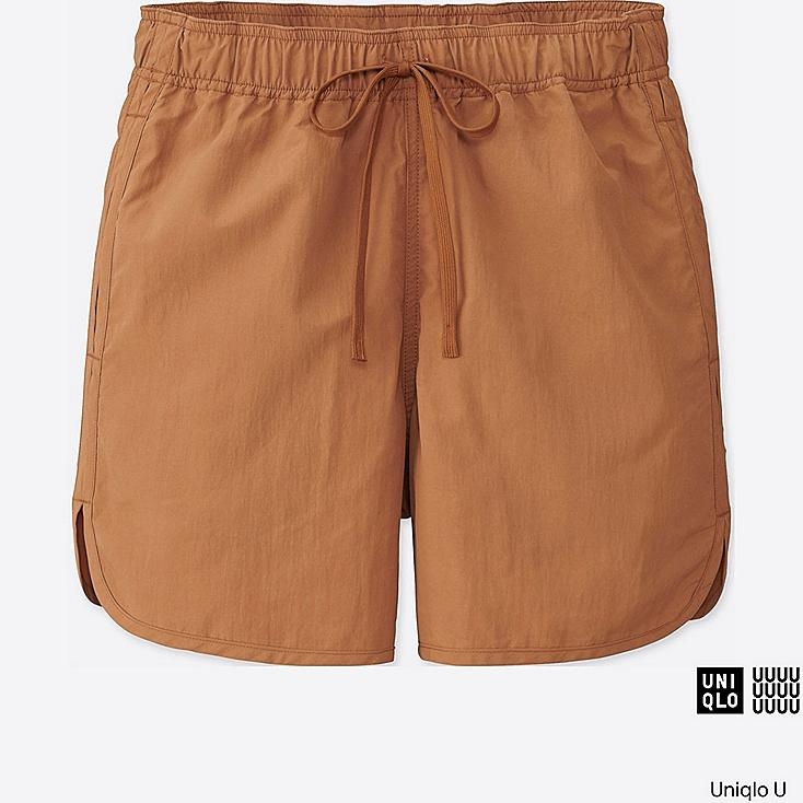 WOMEN U SHORTS, BROWN, large