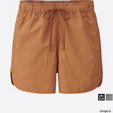 WOMEN U SHORTS, BROWN, medium