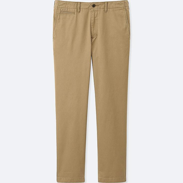 "MEN VINTAGE REGULAR FIT CHINO FLAT FRONT TROUSERS (34"")"