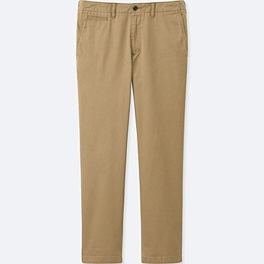 MEN VINTAGE REGULAR FIT CHINO FLAT FRONT TROUSERS (L34)