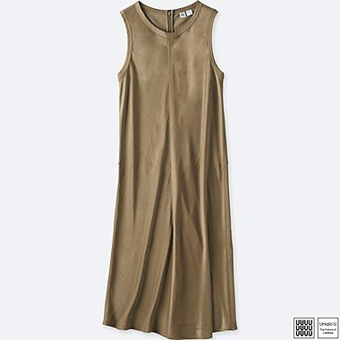 DAMEN UNIQLO U KLEID SATIN