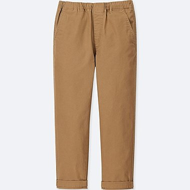 BOYS RELAXED TAPERED ANKLE PANTS, BROWN, medium