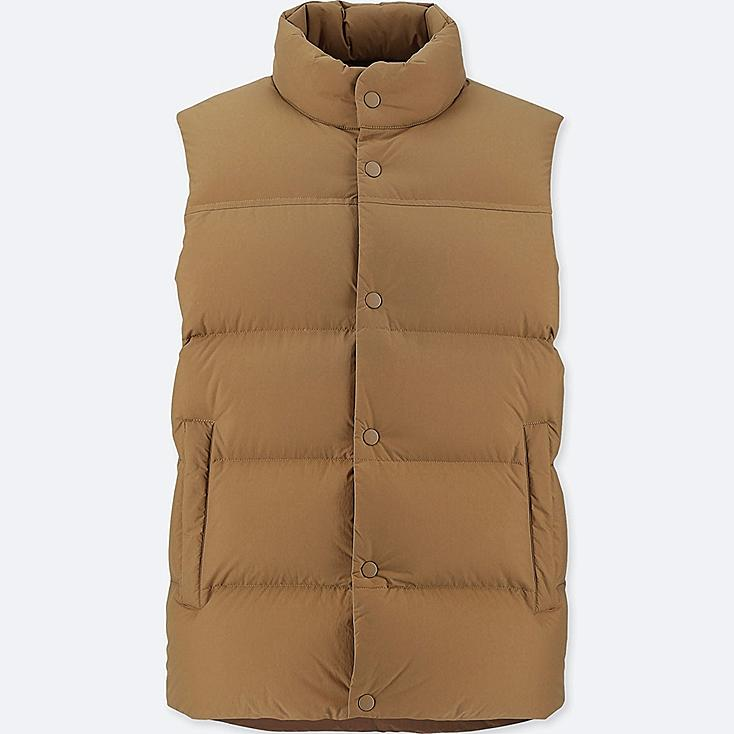 MEN LIGHT DOWN VEST (ONLINE EXCLUSIVE), BROWN, large