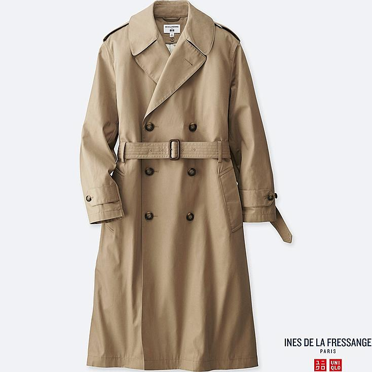 women ines double breasted trench coat uniqlo