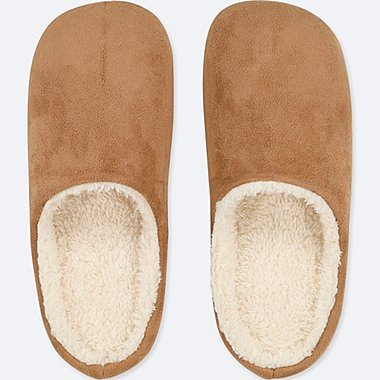 PILE-LINED SLIPPERS, BROWN, medium