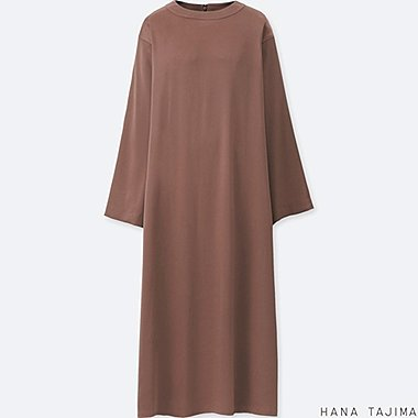 WOMEN HPJ FLARE LONG SLEEVE LONG DRESS