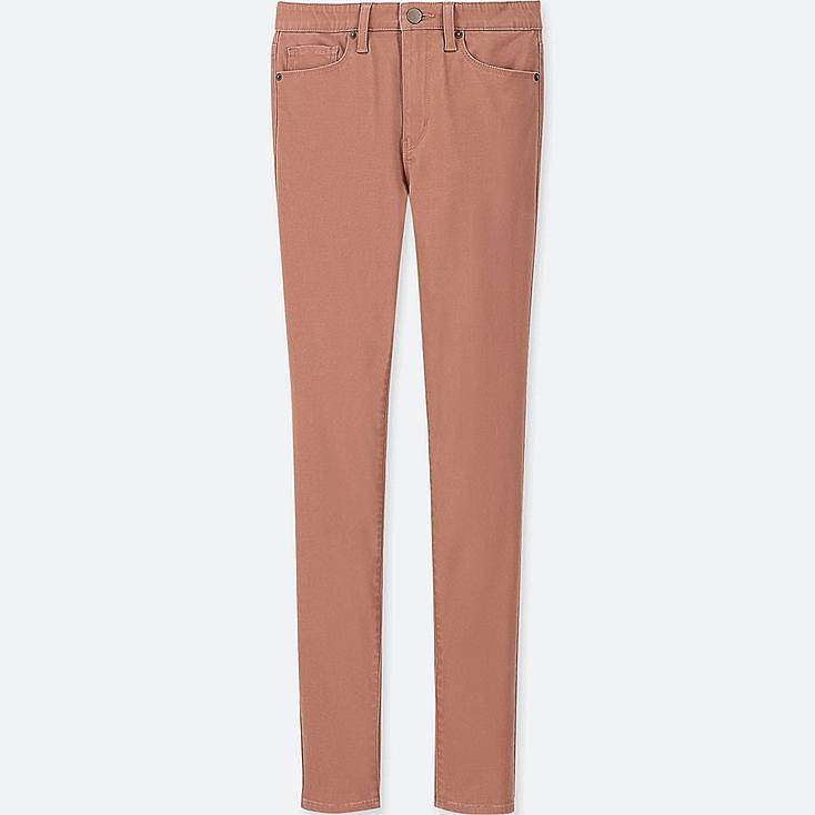 WOMEN EZY SKINNY FIT COLOR JEANS, BROWN, large