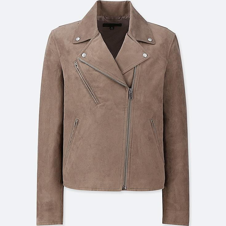 WOMEN SUEDE RIDERS JACKET | Tuggl