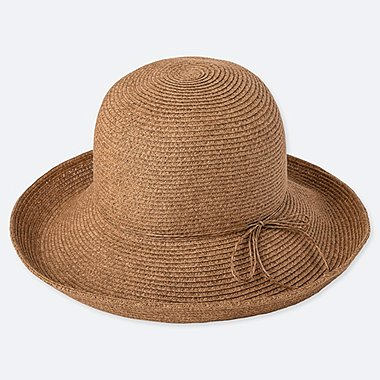 WOMEN ADJUSTABLE CAPELINE HAT, BROWN, medium