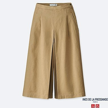WOMEN INES LINEN COTTON BLEND CULOTTES