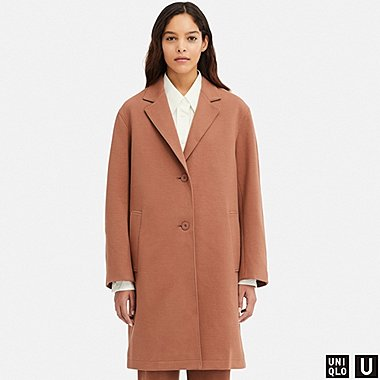 DAMEN UNIQLO U DOUBLE FACE MANTEL