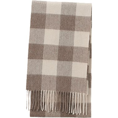CASHMERE SCARF, BROWN, medium