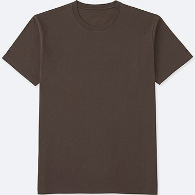 MEN PACKAGED DRY CREWNECK SHORT SLEEVE T-SHIRT, BROWN, medium