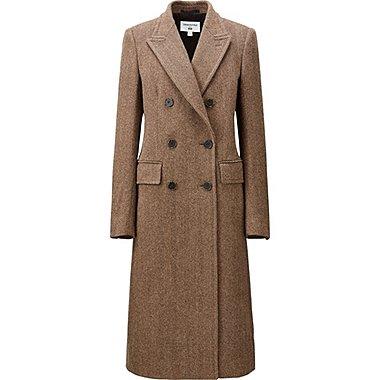 WOMEN CARINE TWEED COAT, BROWN, medium