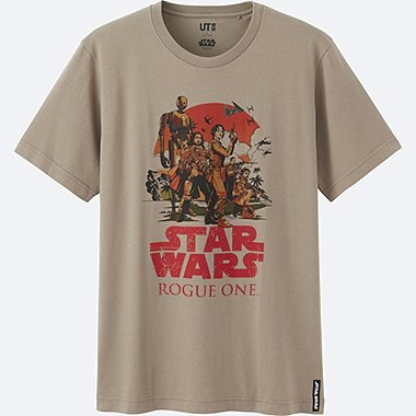 MEN STAR WARS SHORT SLEEVE GRAPHIC T-SHIRT, BROWN, medium