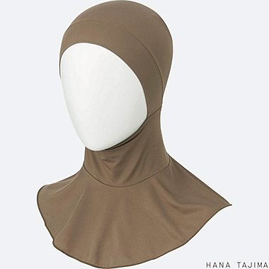 WOMEN AIRism INNER HIJAB, BROWN, medium