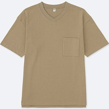 MEN Oversized Short Sleeve V Neck T-Shirt