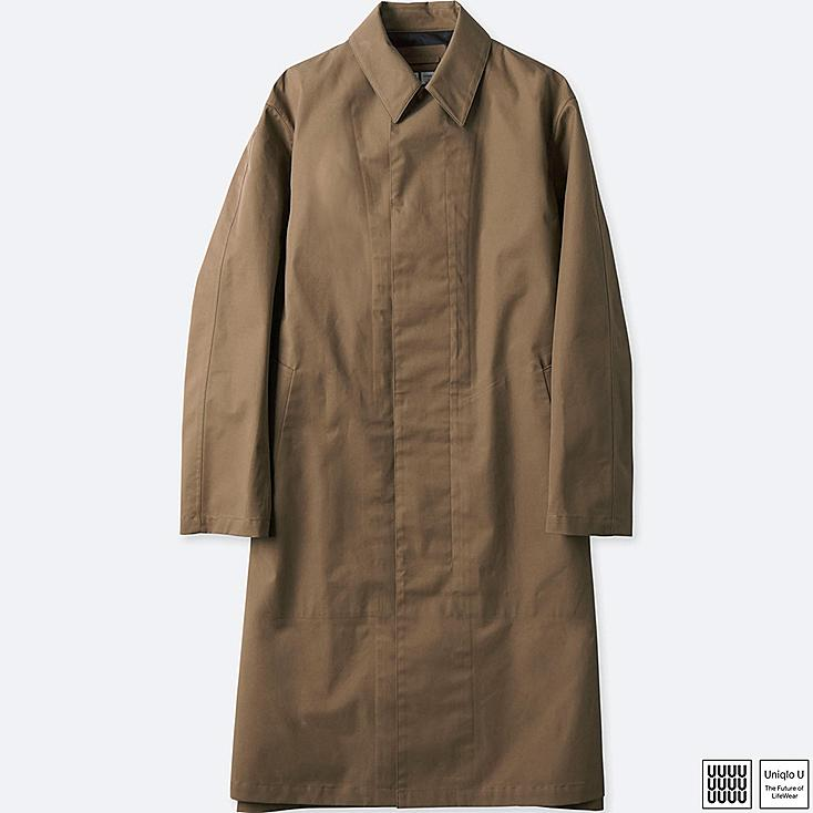 MEN U BLOCKTECH COAT, BROWN, large