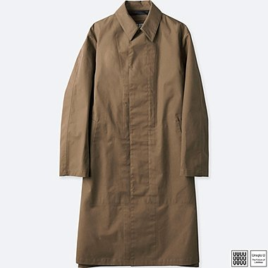 MEN U BLOCKTECH COAT, BROWN, medium