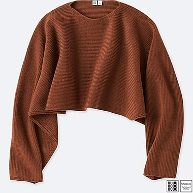 WOMEN UNIQLO U MERINO BLEND DOLMAN SLEEVE SWEATER