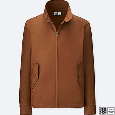 MEN U HARRINGTON JACKET, BROWN, medium