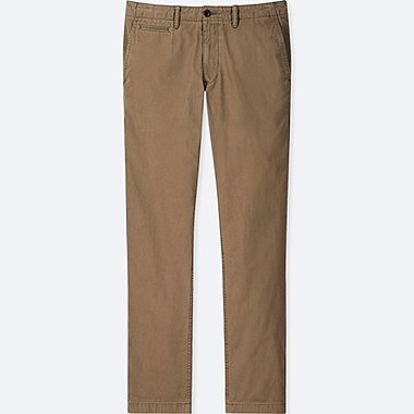 MEN REGULAR FIT FLAT FRONT VINTAGE CHINO TROUSERS (L34)