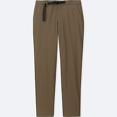 MEN WINDPROOF WARM-LINED PANTS (ONLINE EXCLUSIVE), BROWN, medium