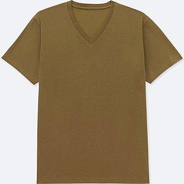 MEN PACKAGED DRY V-NECK SHORT-SLEEVE T-SHIRT, BROWN, medium