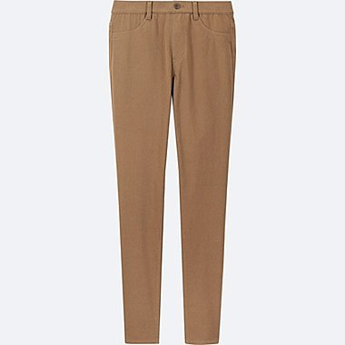 WOMEN LEGGINGS PANTS, BROWN, medium