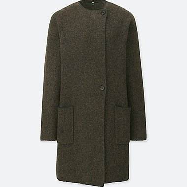 WOMEN TWEED KNITTED COAT