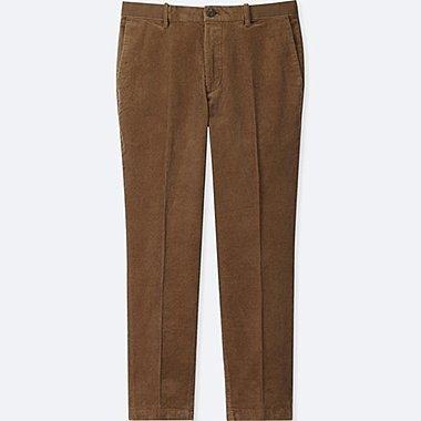 MEN EZY ANKLE-LENGTH PANTS (CORDUROY), BROWN, medium
