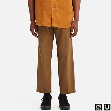 MEN U REGULAR-FIT ANKLE PANTS, BROWN, medium