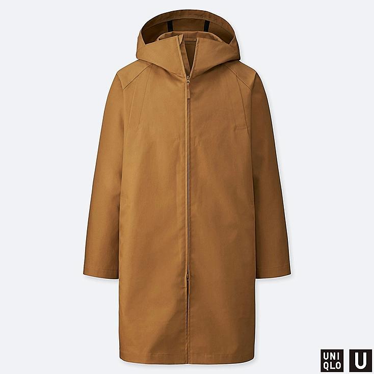 MEN U BLOCKTECH COAT, BROWN, large