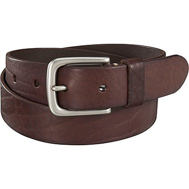 Men Italian Washed Leather Belt, BROWN, medium