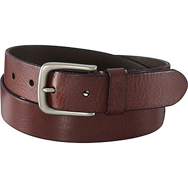 MEN ITALIAN LEATHER VINTAGE BELT, BROWN, medium