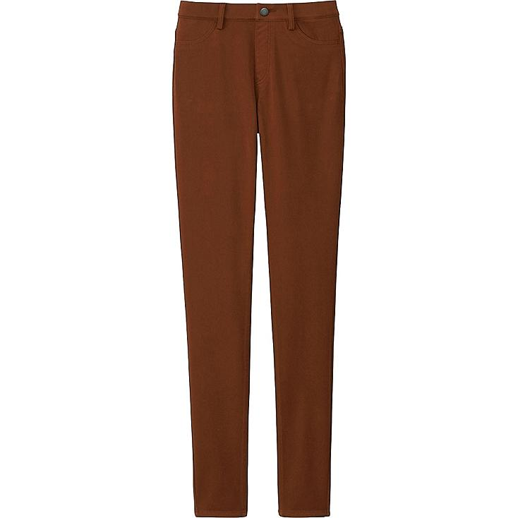 WOMEN LEGGINGS PANTS, BROWN, large