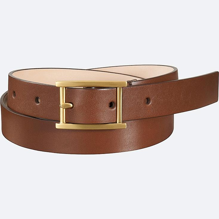 WOMEN CLEAN BELT, BROWN, large