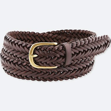 MEN LEATHER MESH BELT